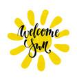 hand drawn watercolor sun icon welcome sun hand vector image