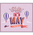 Hello may typographic design vector image
