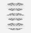 Label classic floral set vector image