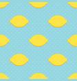 Lemons and polka dots seamless pattern vector image