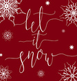 Let it Snow vector image