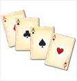 Old playing cards vector image
