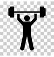 power lifting icon vector image