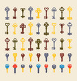 vintage keys seamless pattern vector image