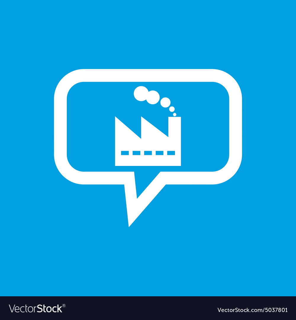 Factory message icon vector