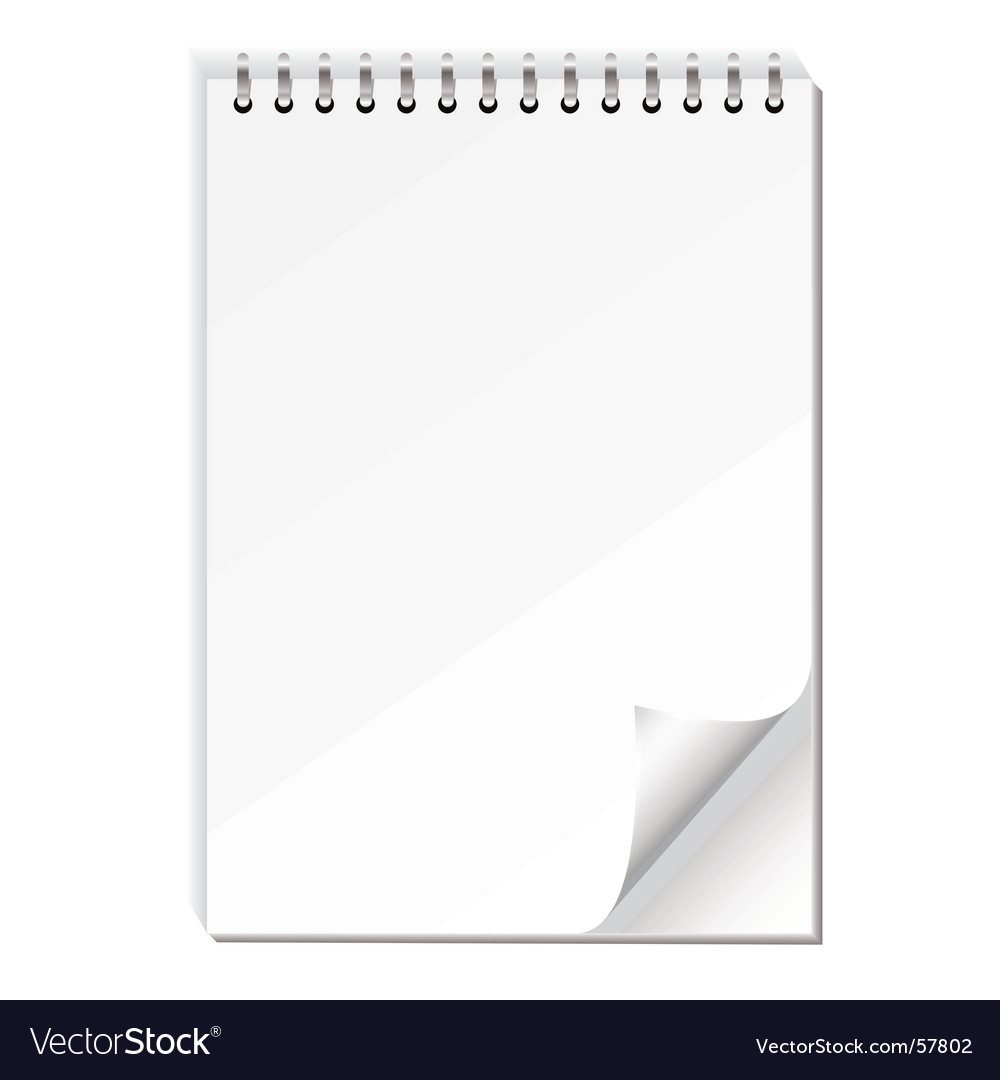 Note paper pad vector