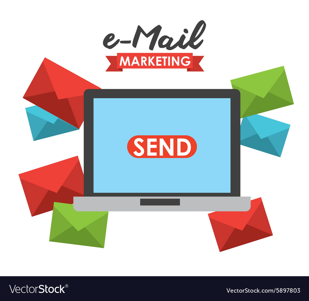 Email marketing vector