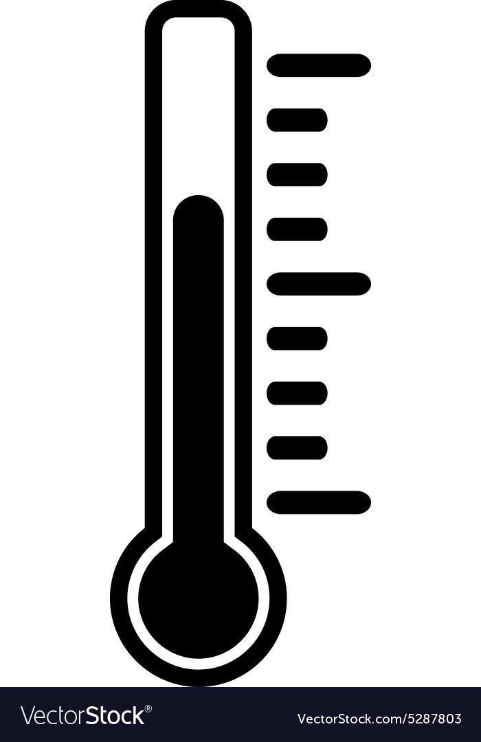 Thermometer icon thermometer symbol flat vector