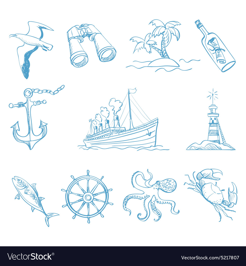 Seamless background on boating theme for your vector