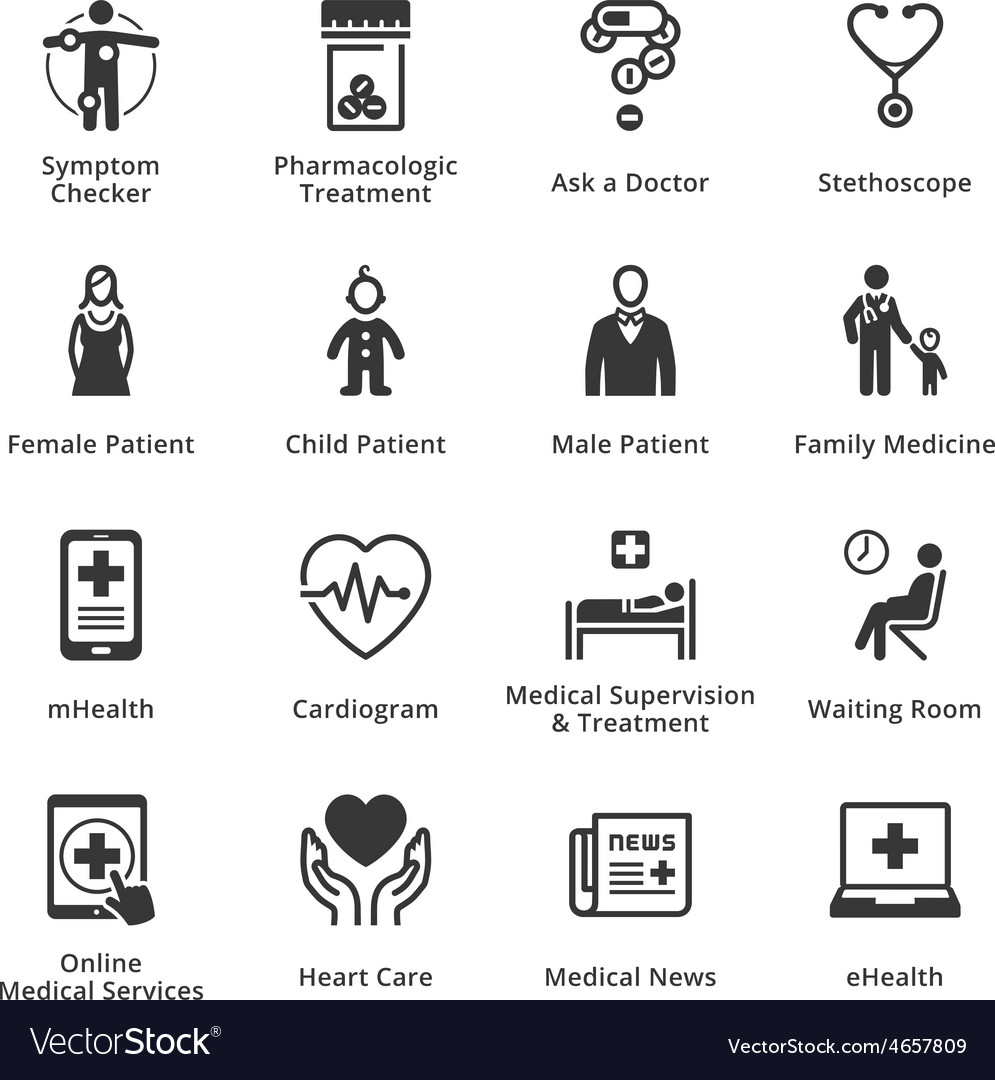 Medical and health care icons  set 2 vector