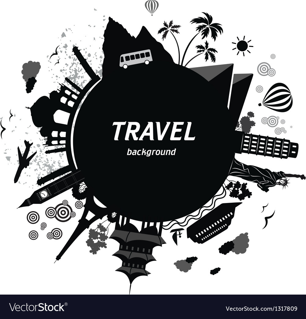 Travel background vector