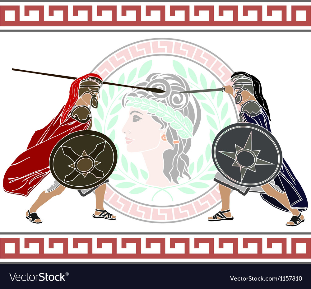 Trojan war stencil second variant vector
