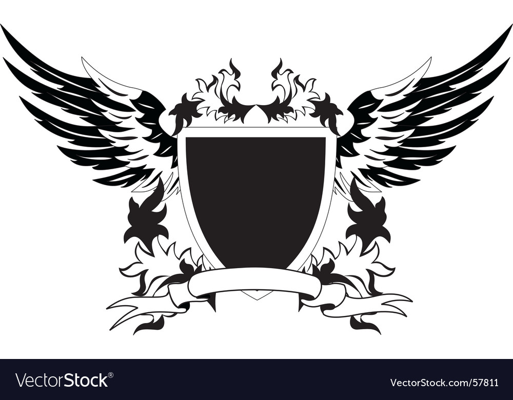 Heraldry retro shield vector