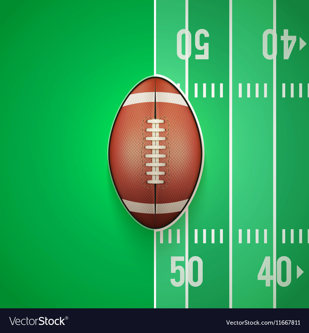 Poster template of american football ball vector