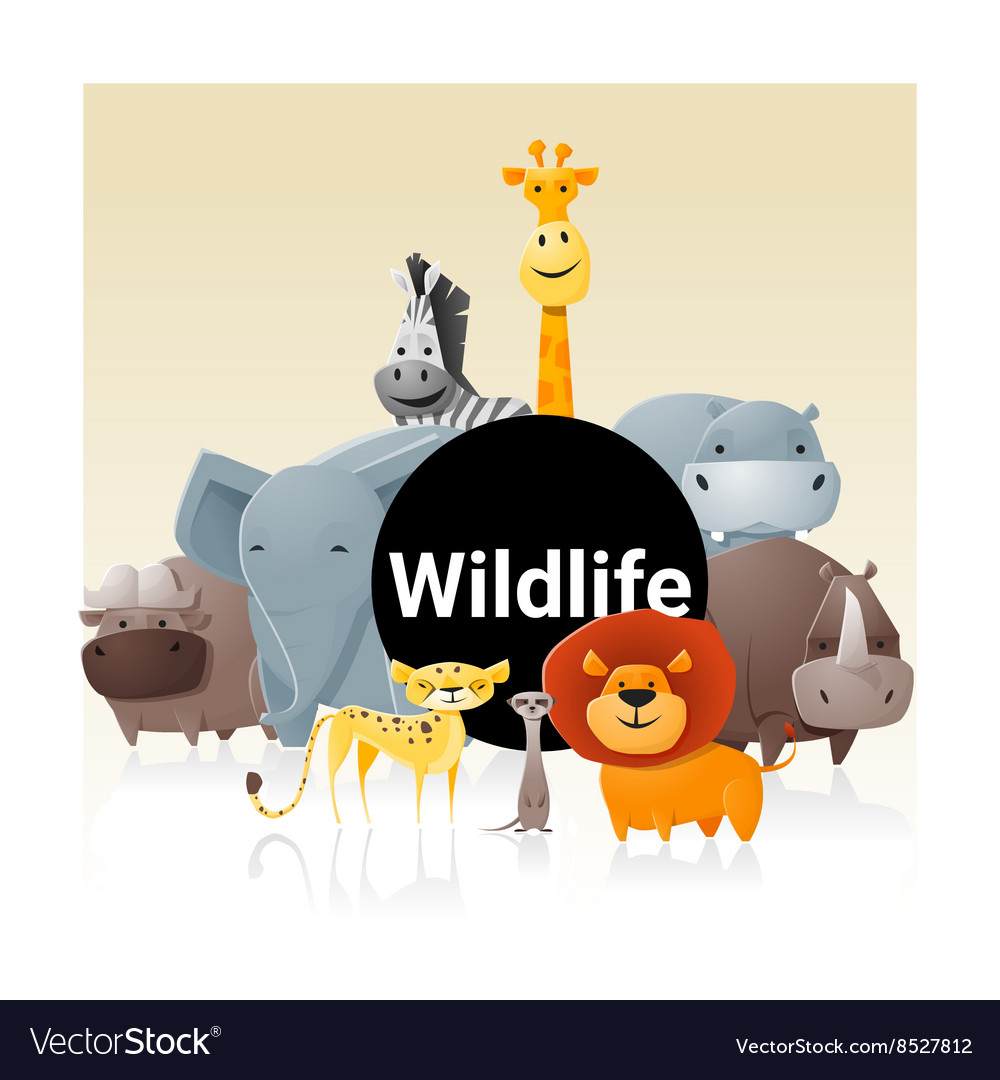 Wild animal background 3 vector