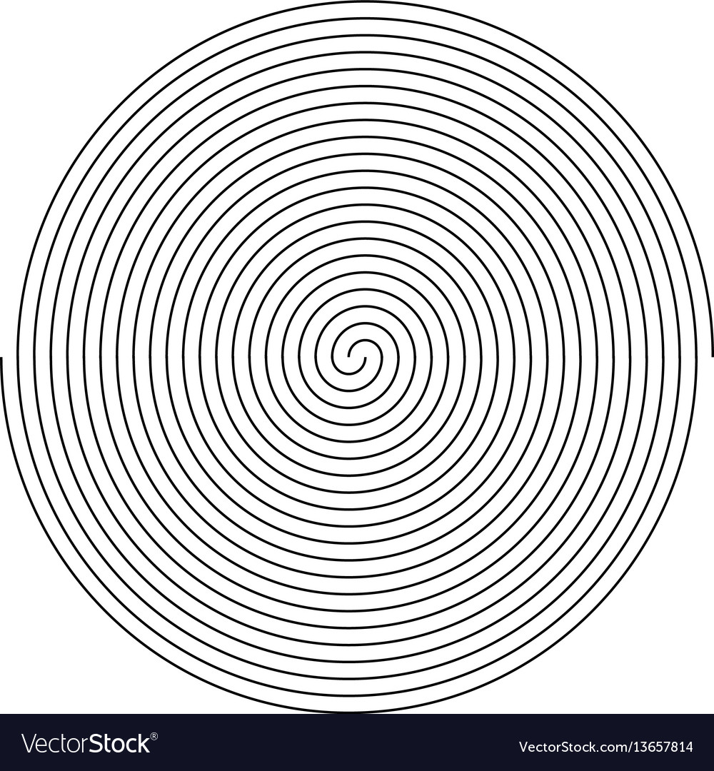 Simple black and white spiral fingerprint design vector