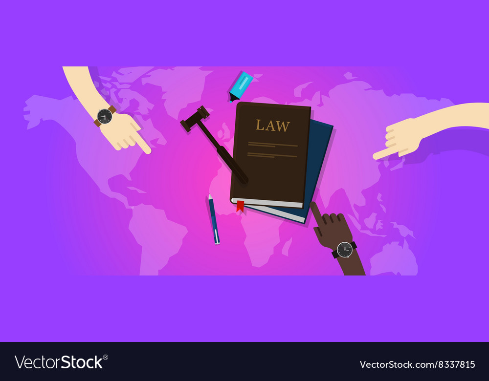 International law legal justice global world gavel vector