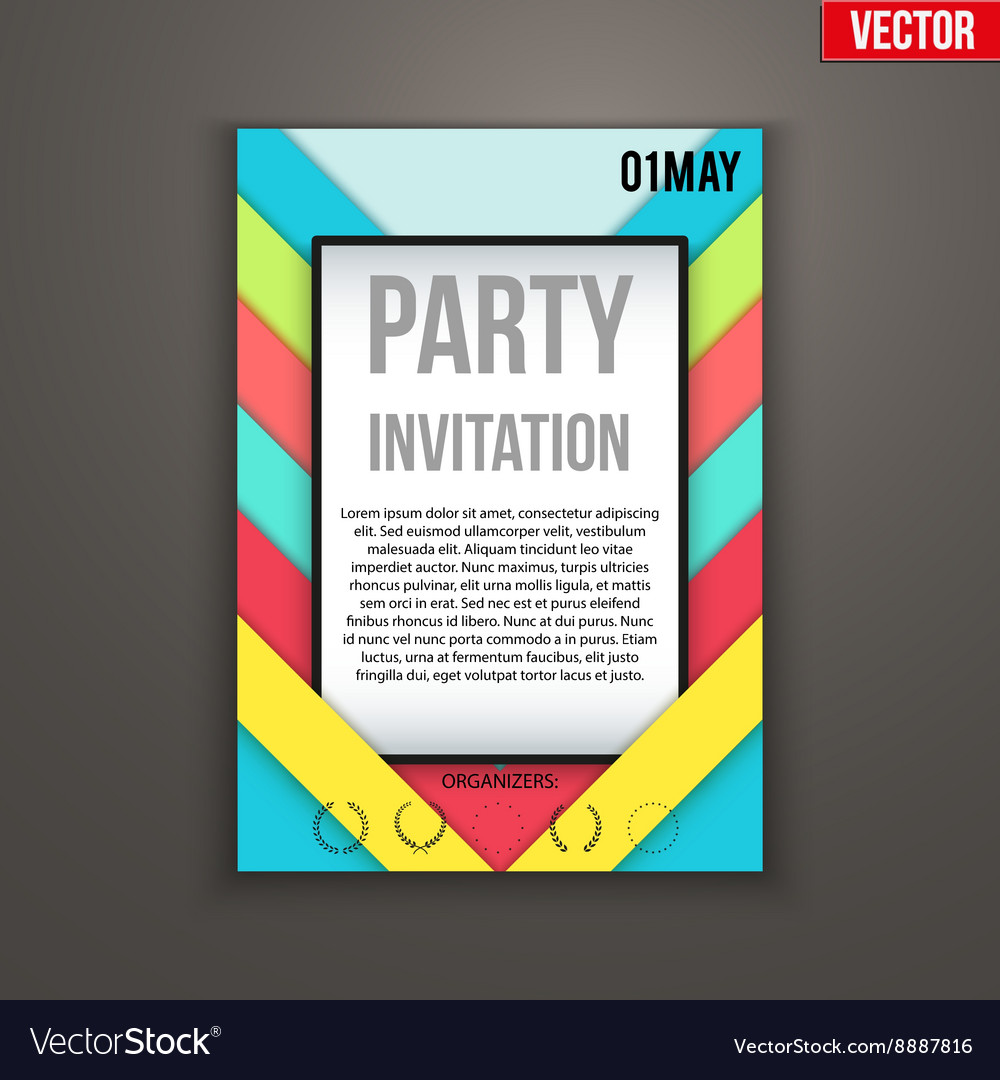 Design of template invitation flyer or vector