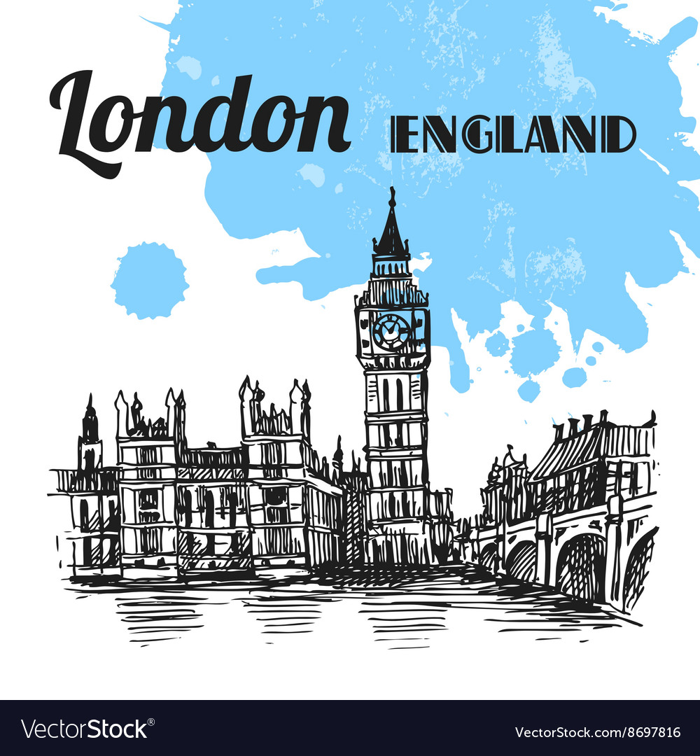 Sketch london vector