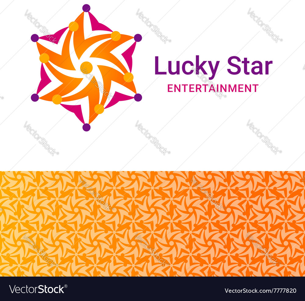 Lucky star icon vector
