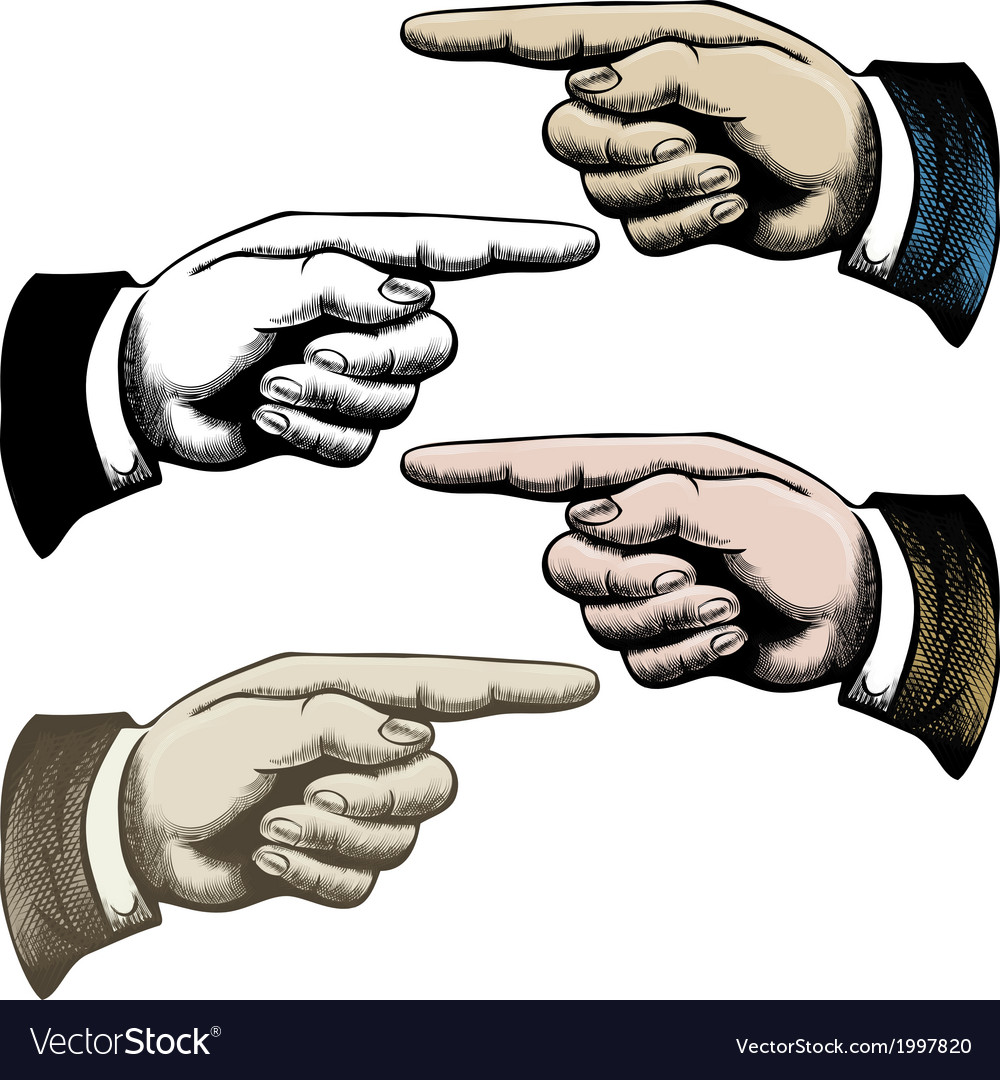 Pointing fingers vector