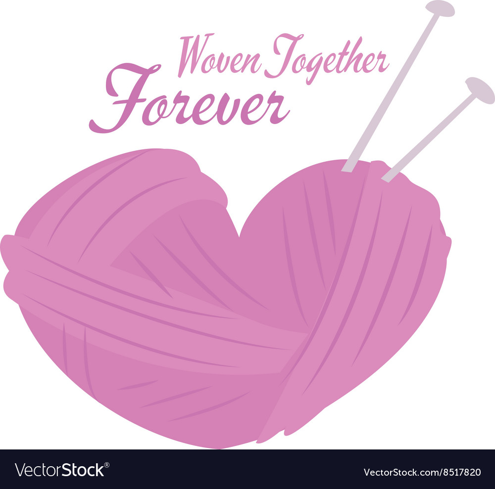 Woven together vector