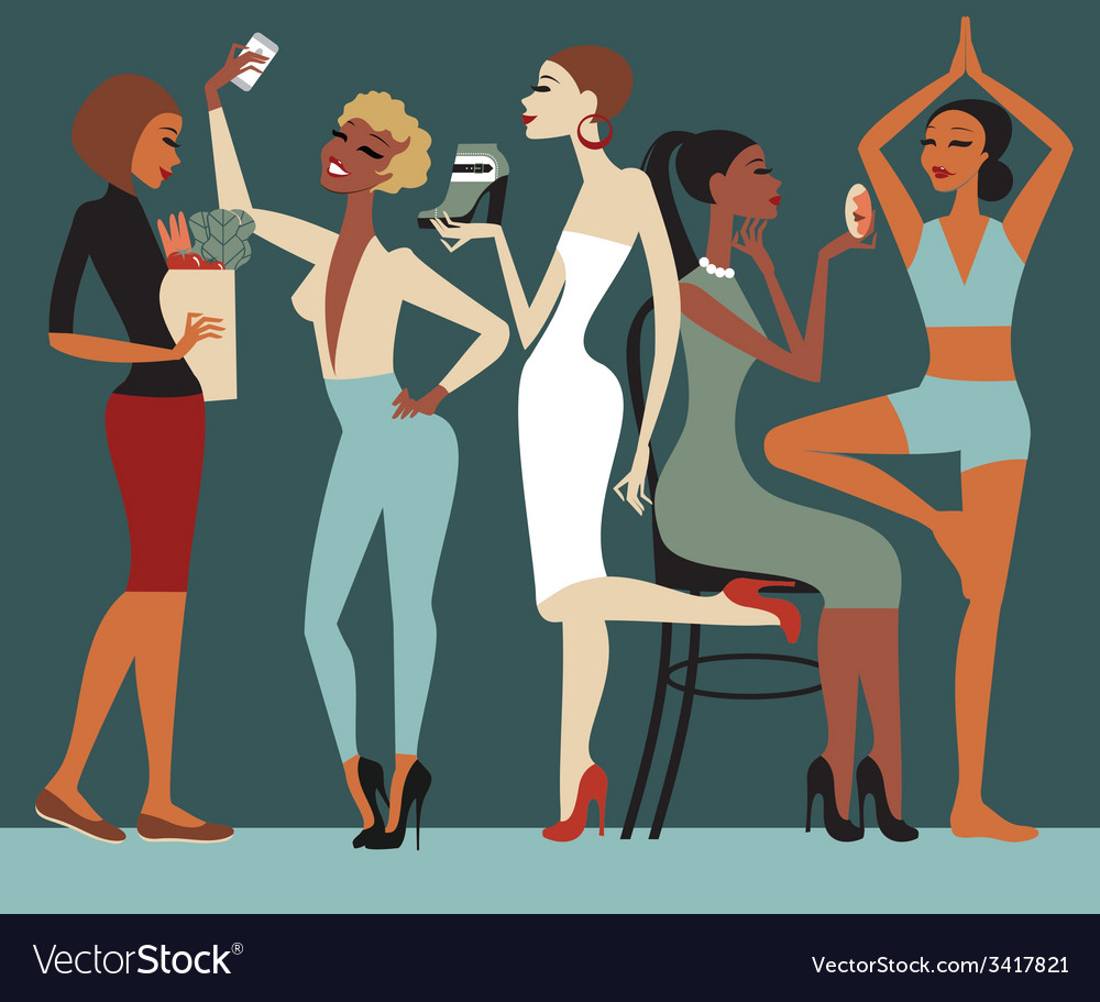 Girls lifestyle vector