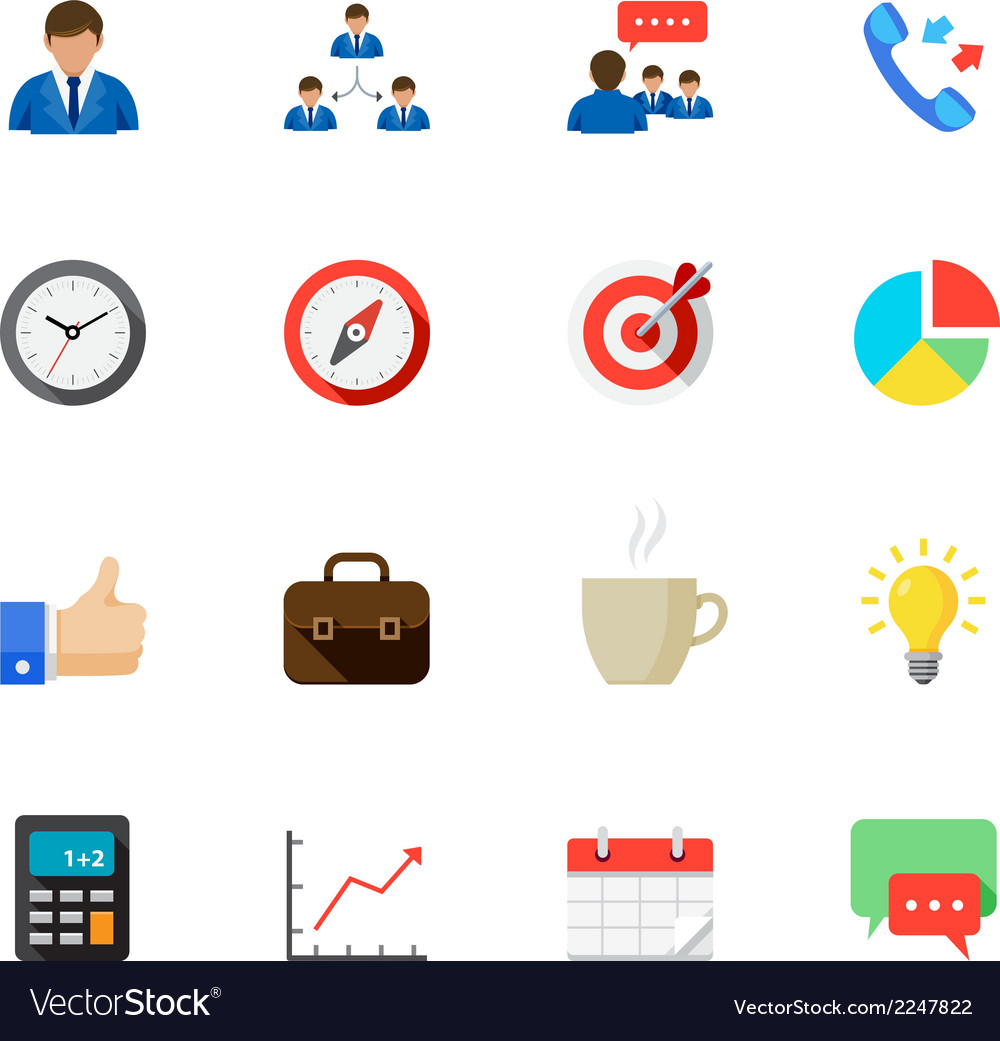 Business and finance icons with white background vector