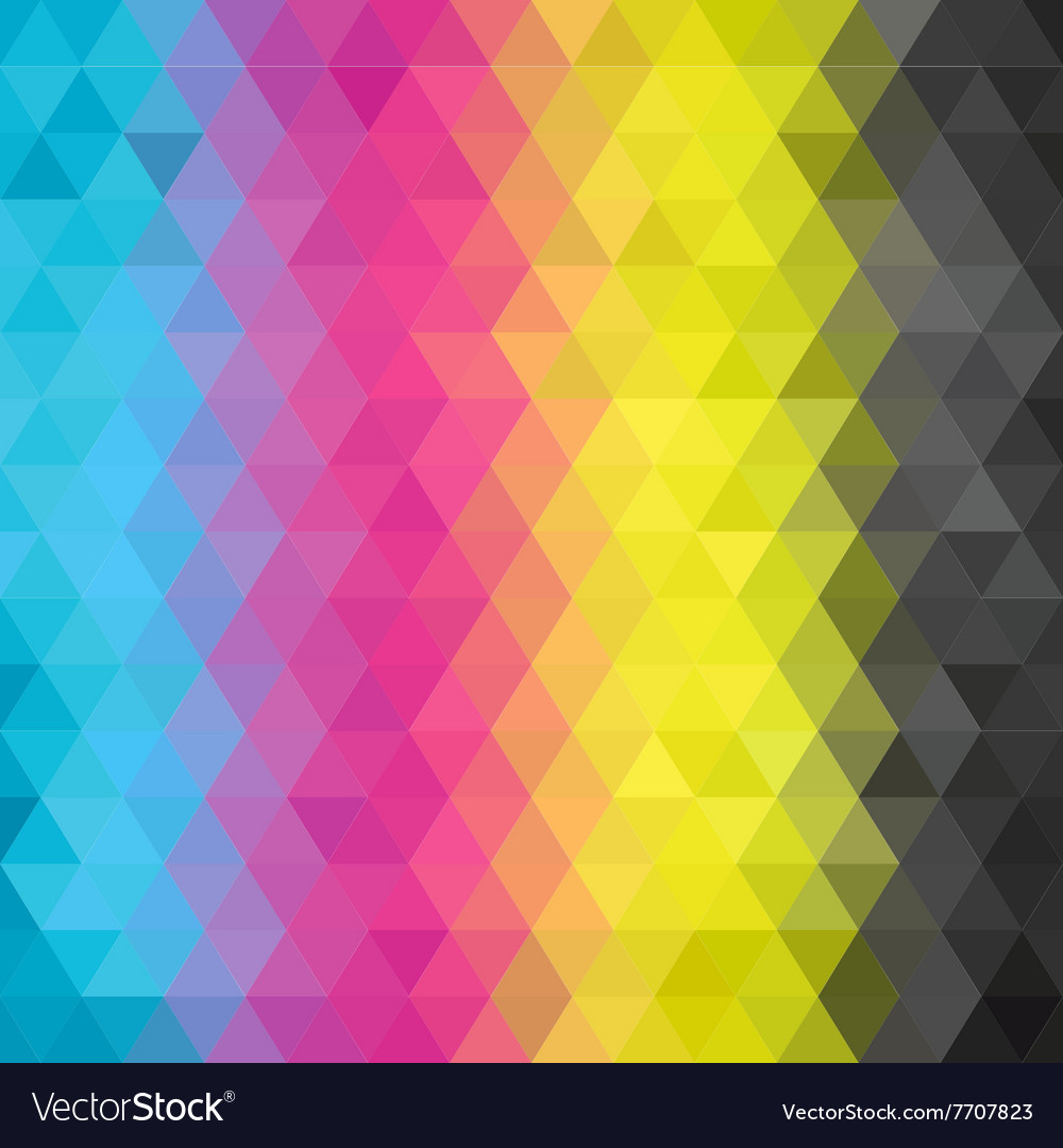 Geometric pattern cmyk vector