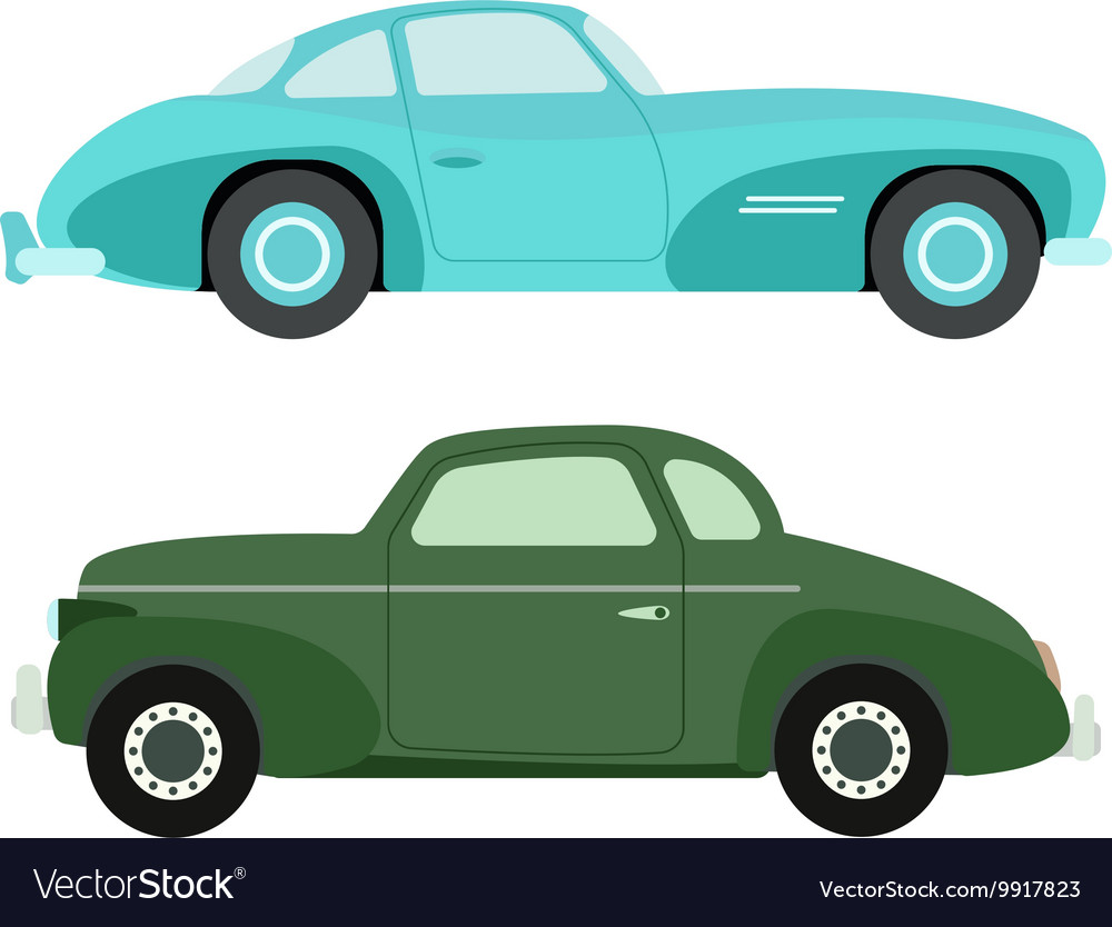 Retro car isolated vector