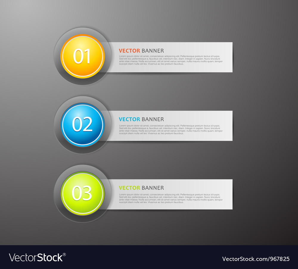 Banners with numbers vector