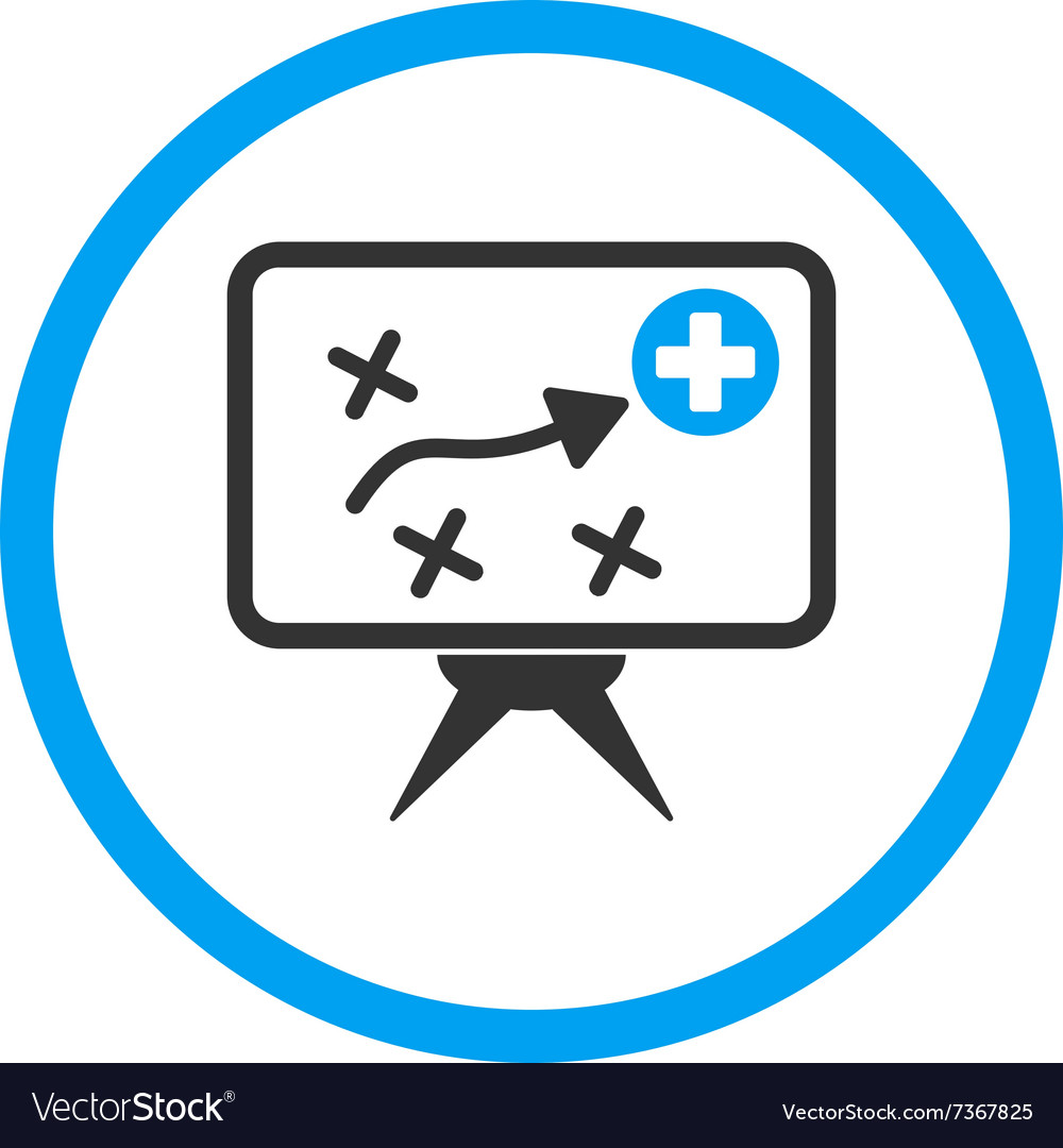Health strategy screen rounded icon vector