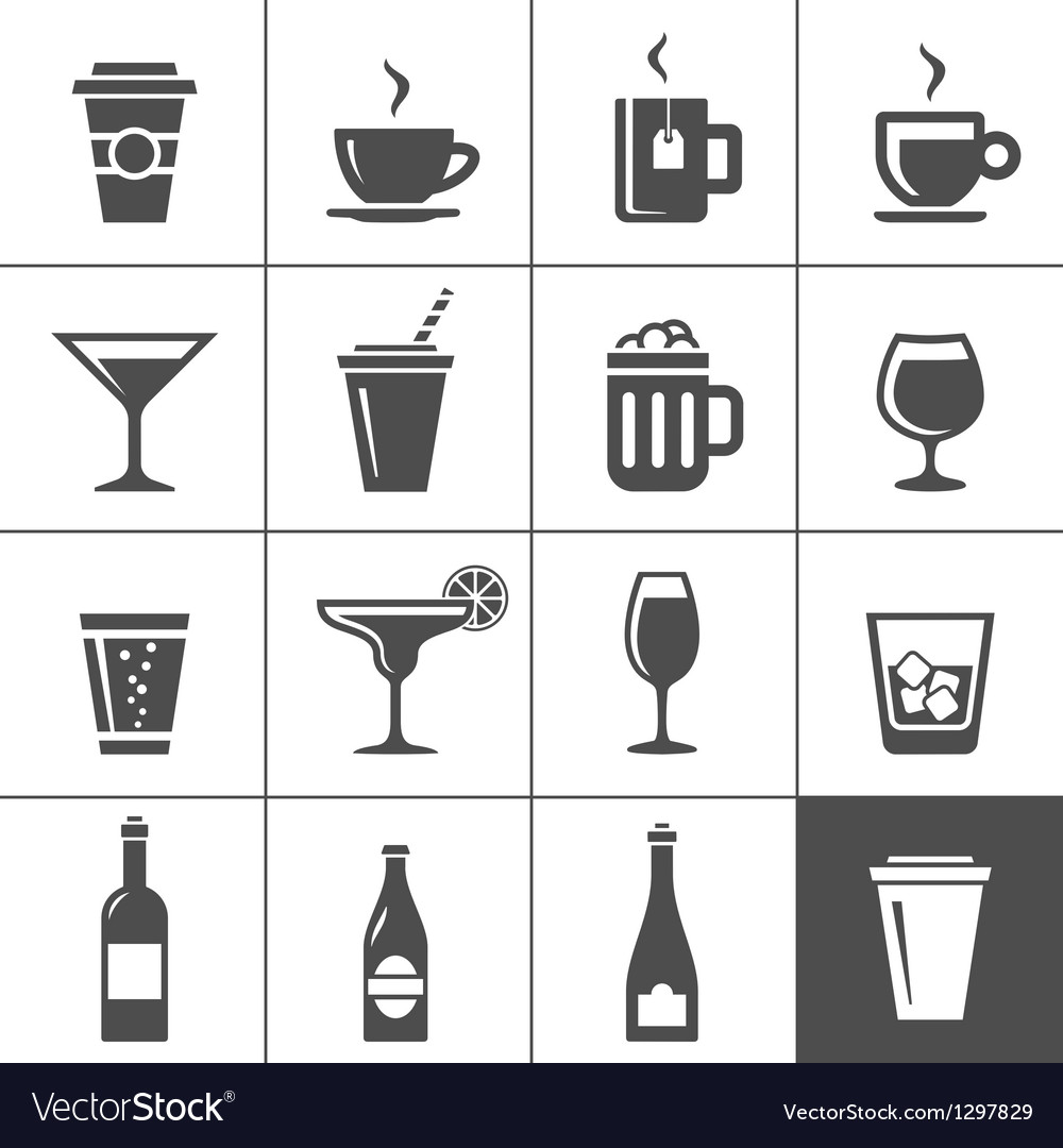Drinks and beverages icons vector