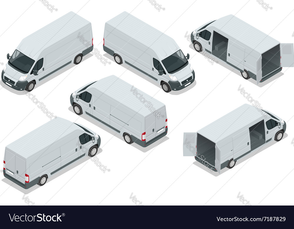Truck for transportation cargo van for the vector