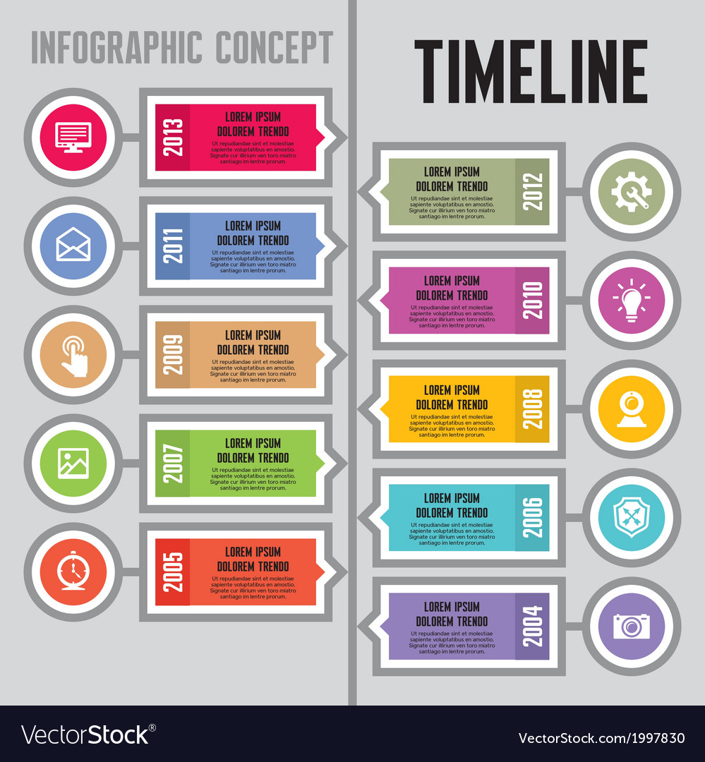 Infographic concept  timeline and steps vector
