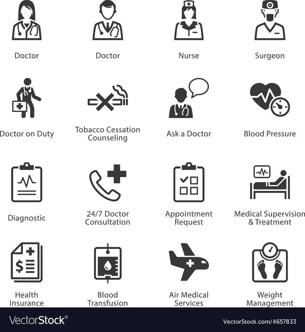 Medical and health care icons set 2  services vector