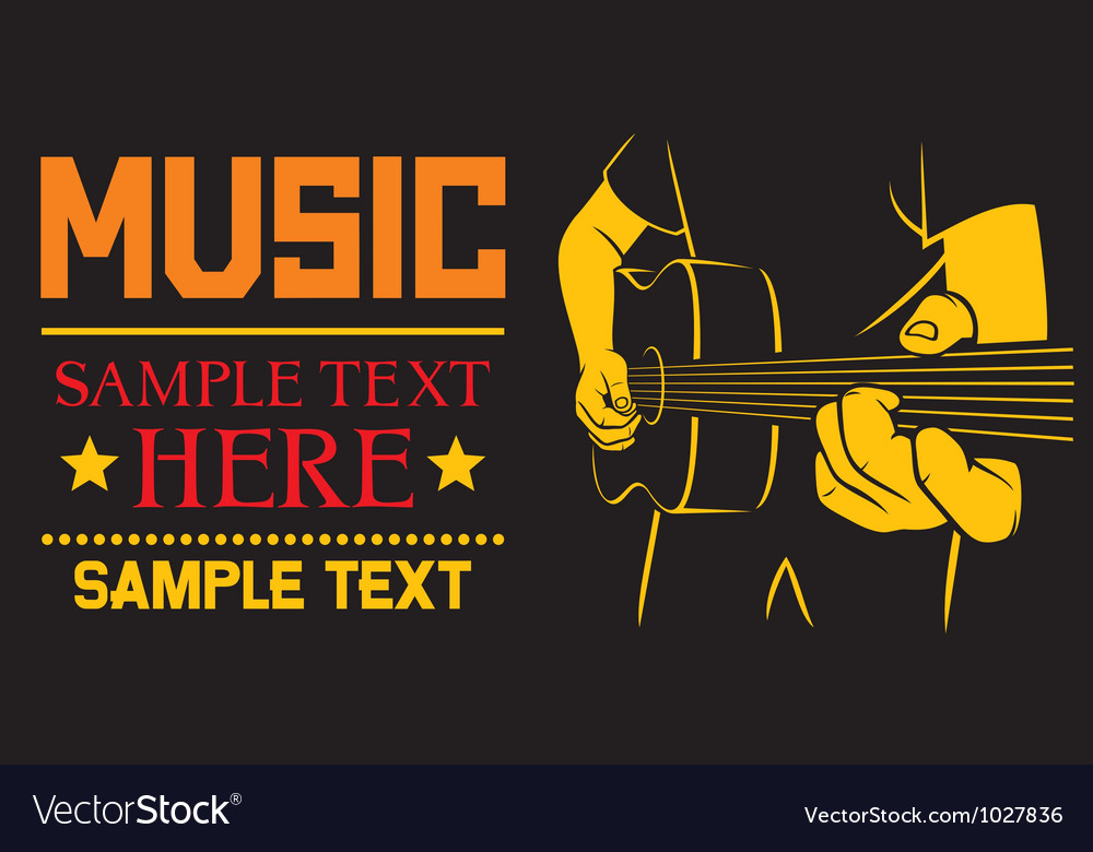 Acoustic guitar playing  background vector