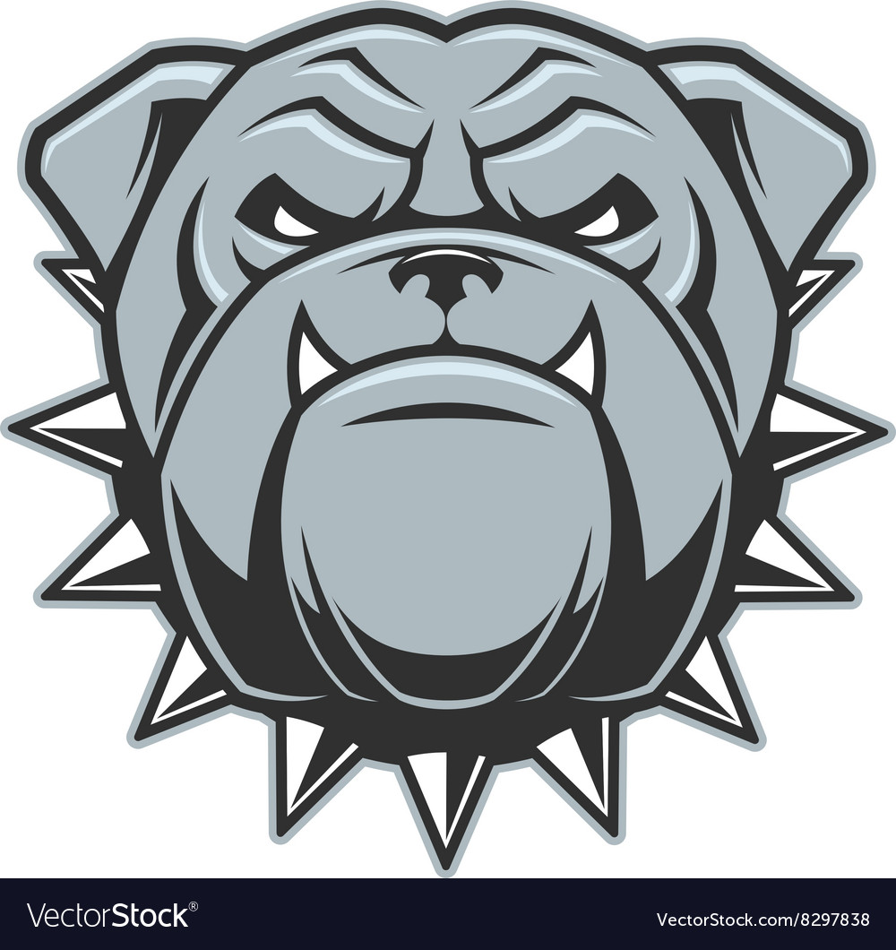 Head of a fierce bulldog vector