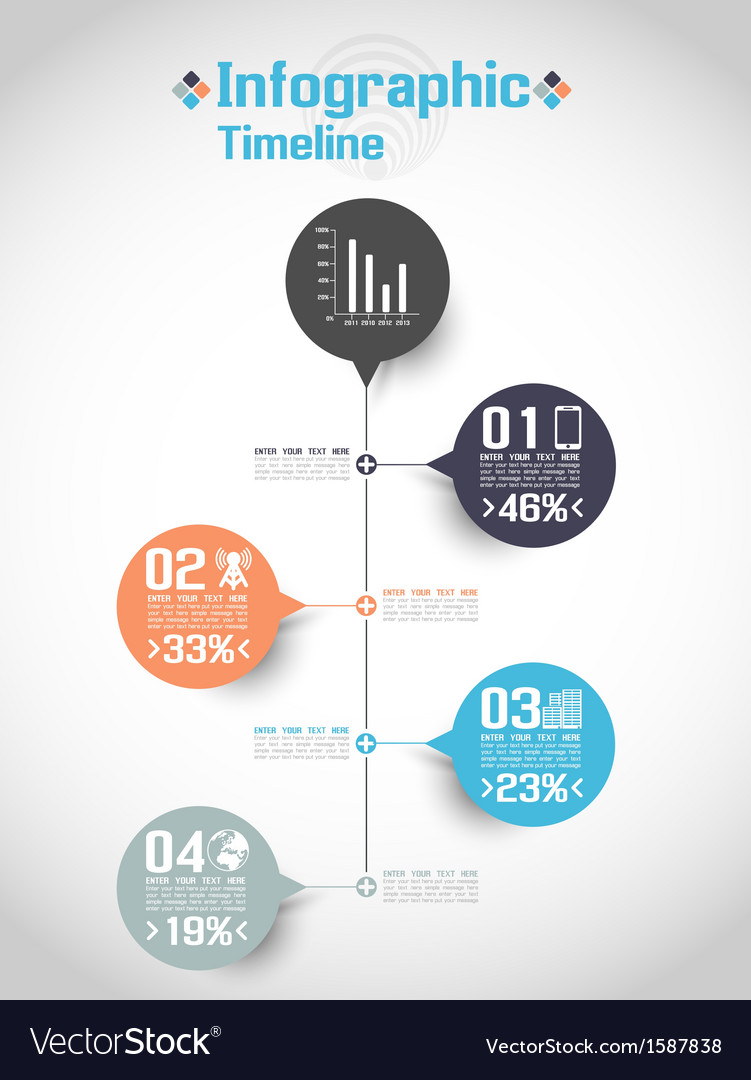 Infographic timeline concept 2 vector