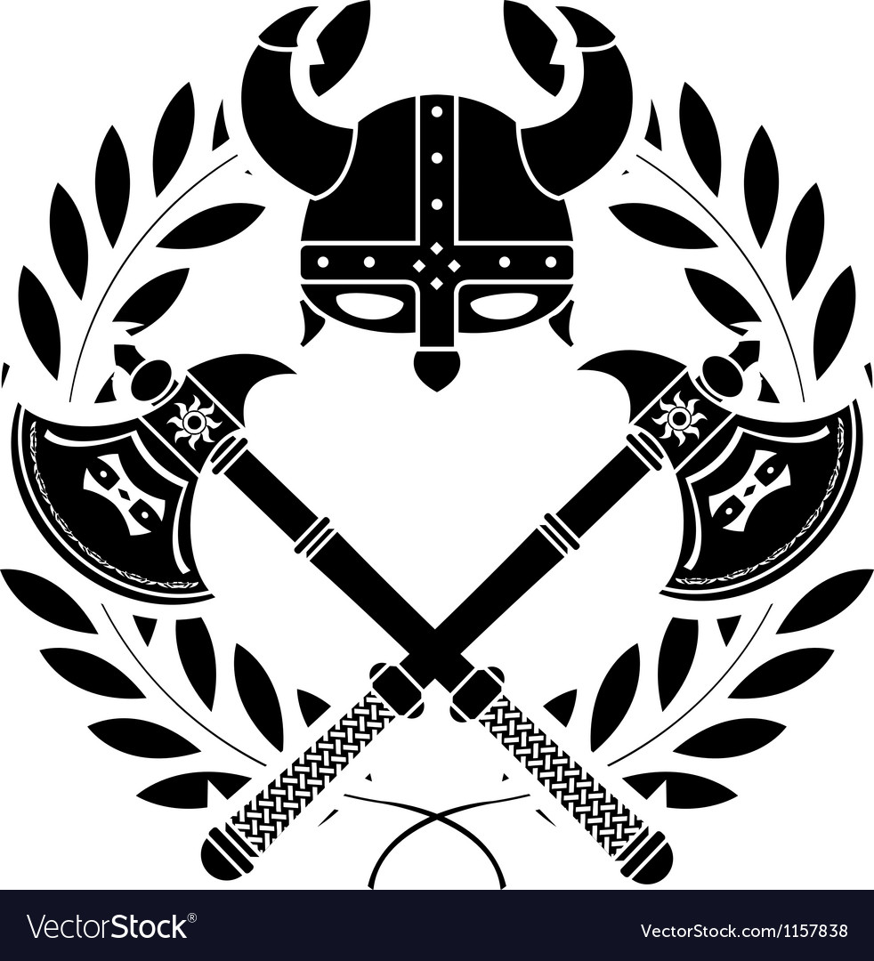 Viking glory stencil first variant vector