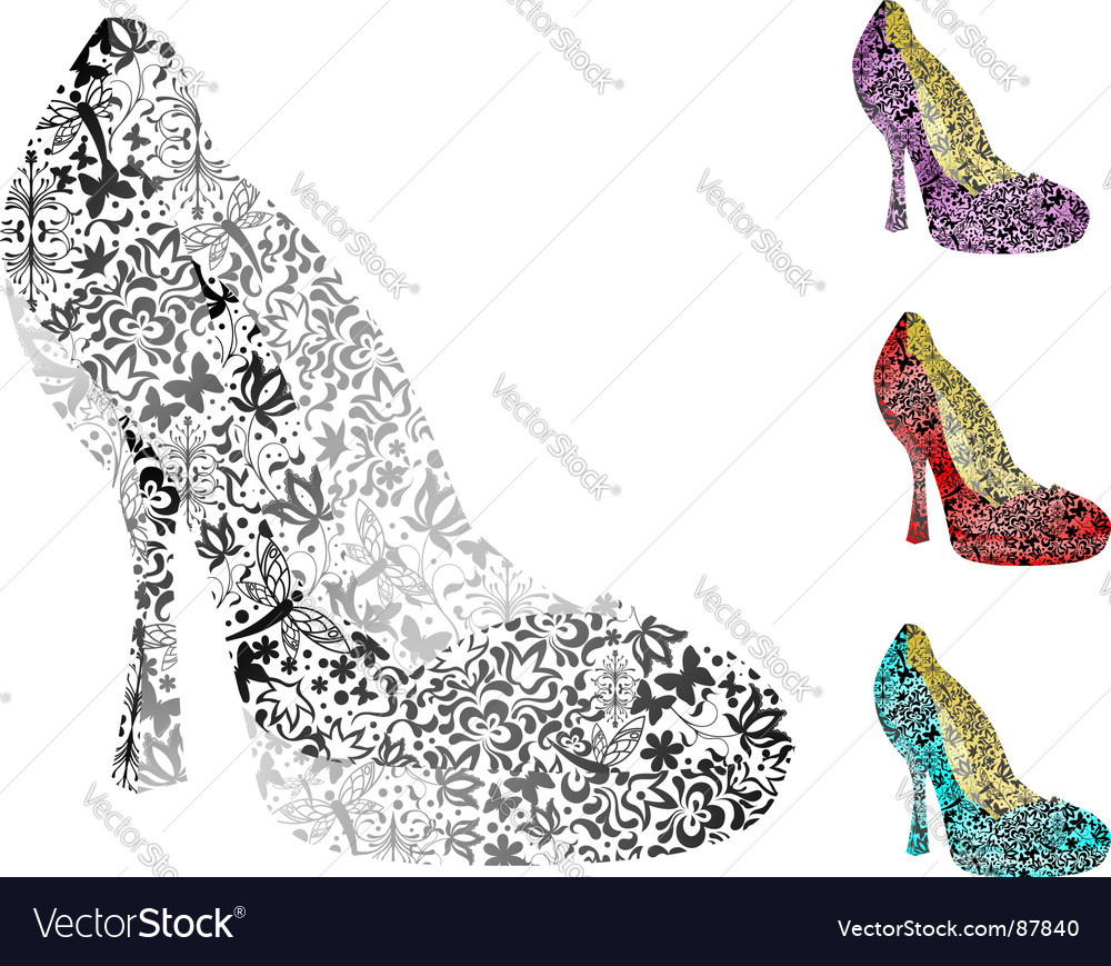 Vintage shoes vector