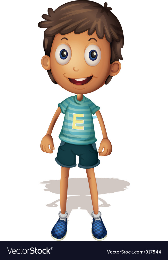 3d of a boy vector