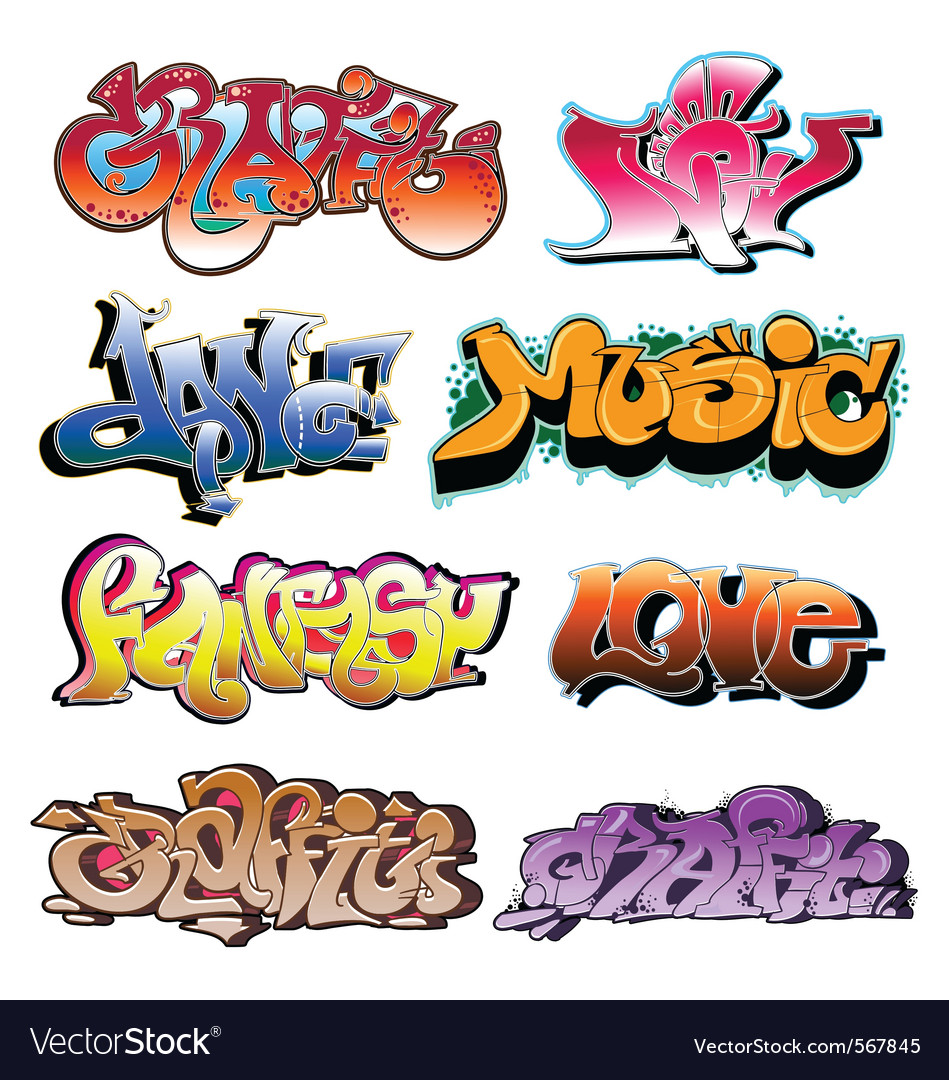 Graffiti collection vector