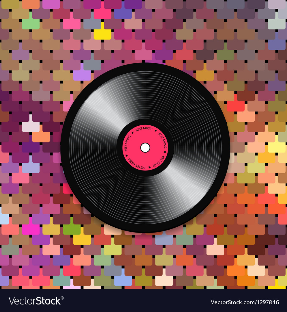Music mosaic background vector
