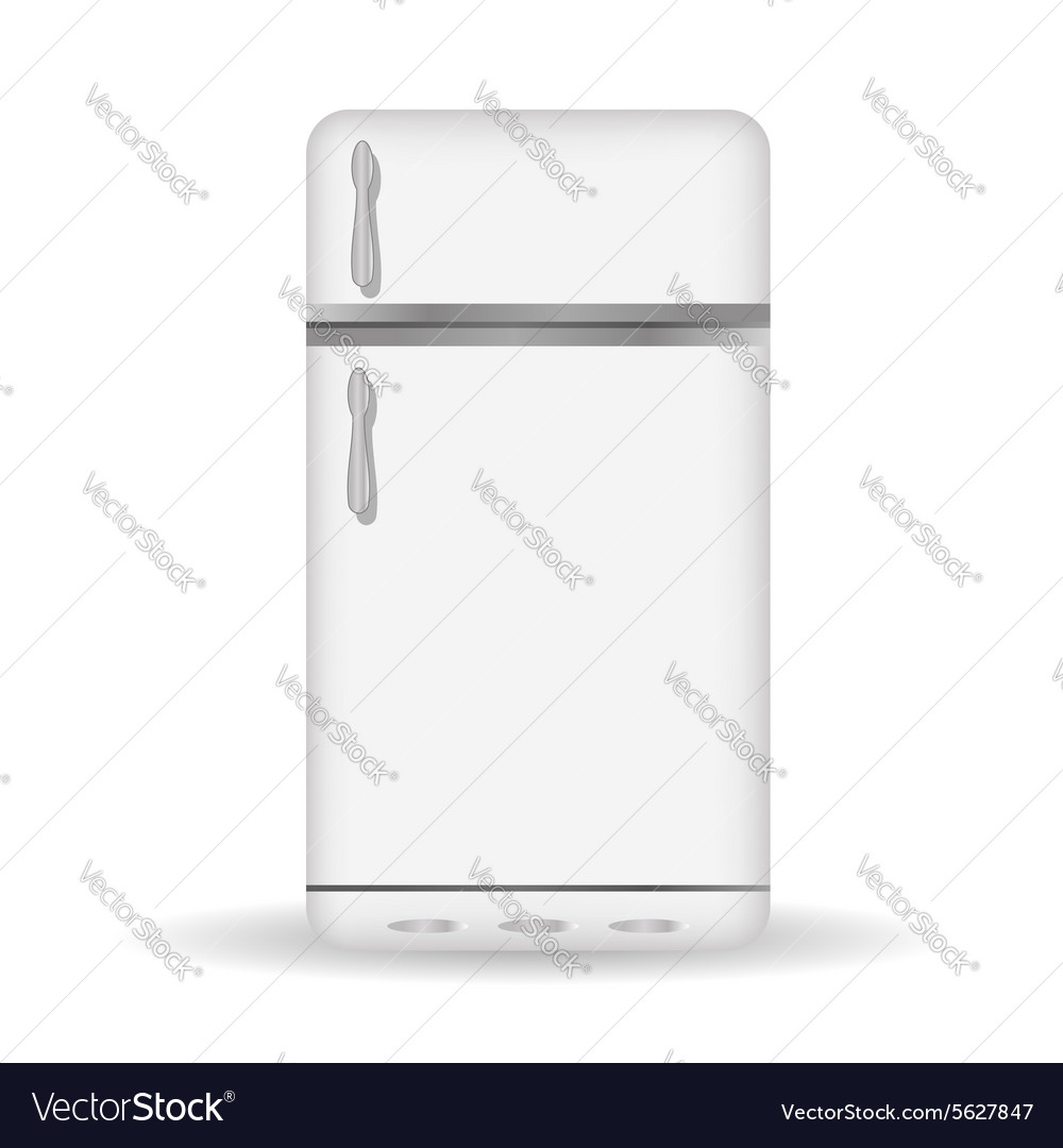 Old refrigerator icon vector