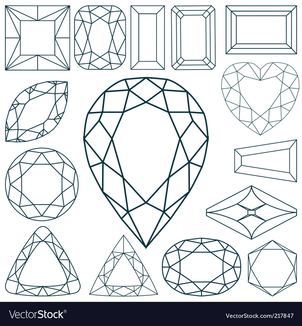 Stone shapes vector