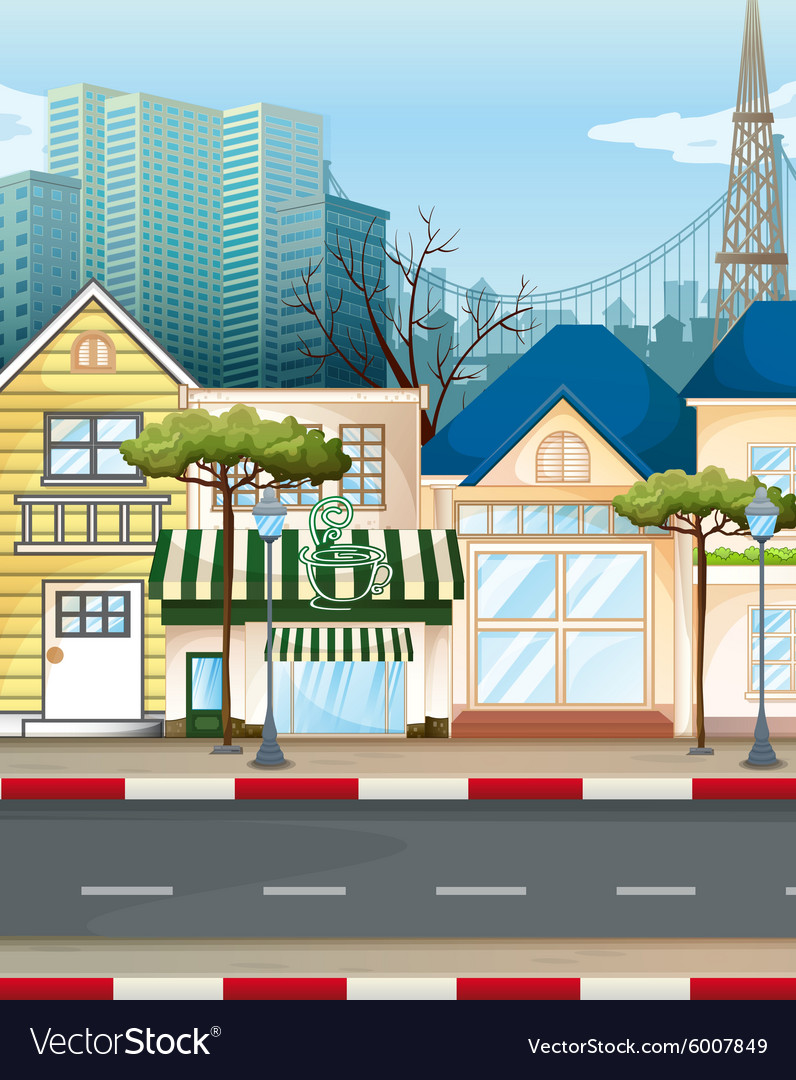 Business area in the city vector