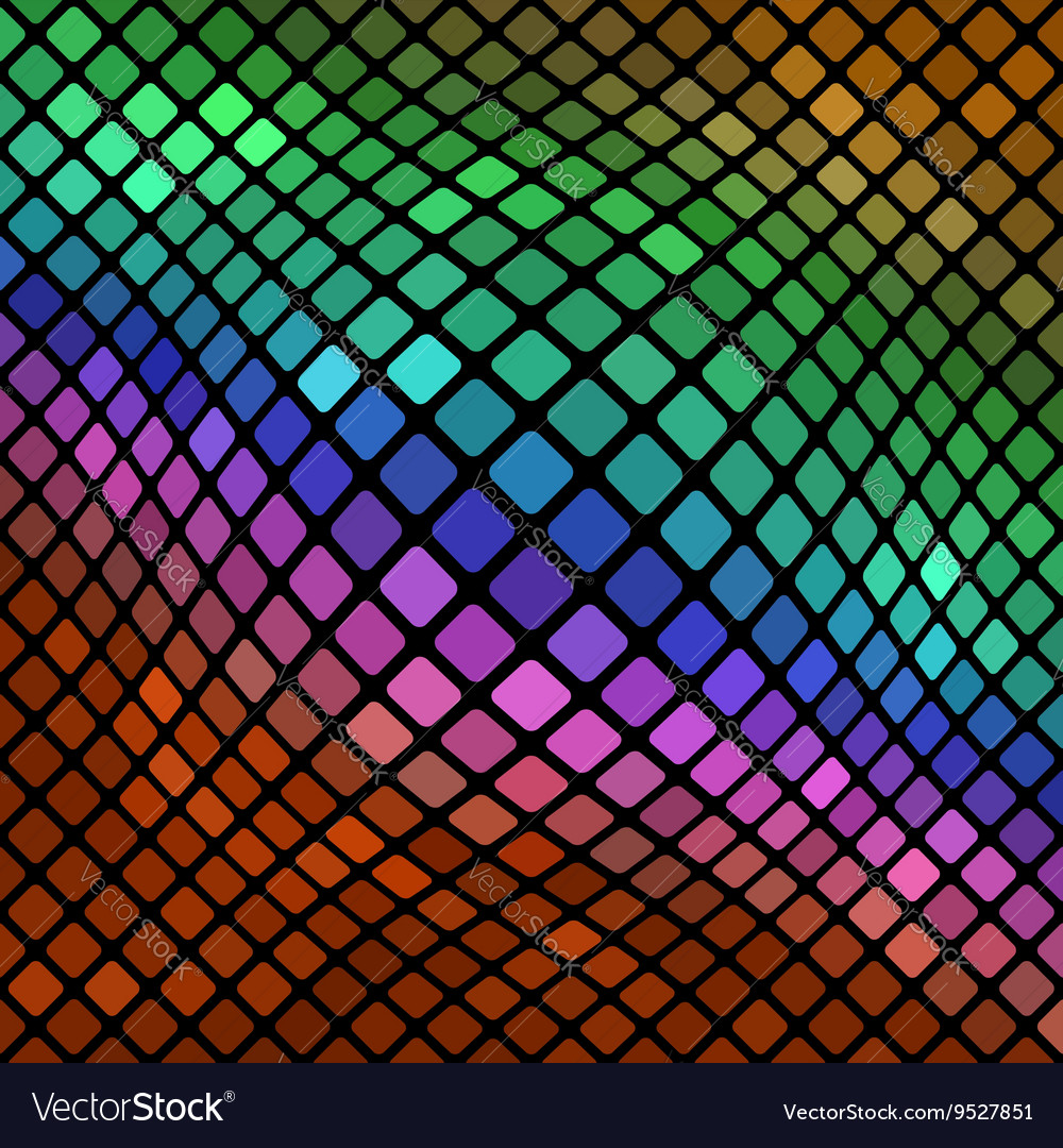 Colorful square pattern abstract background vector