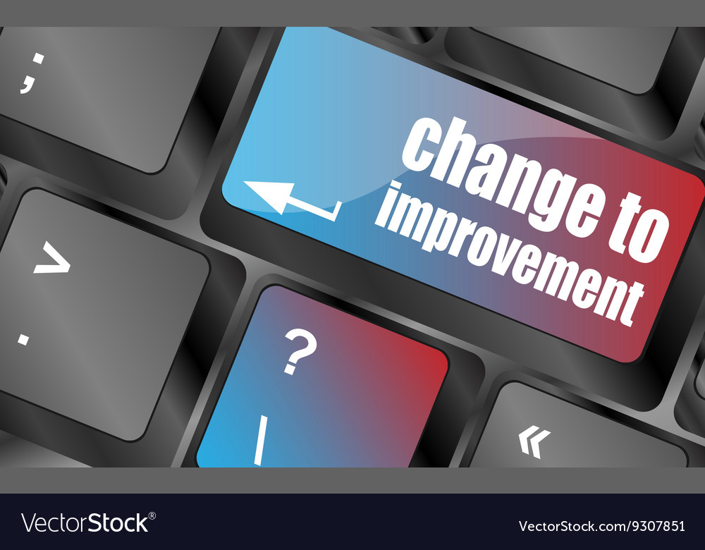 Improve or improvement business concept with key vector