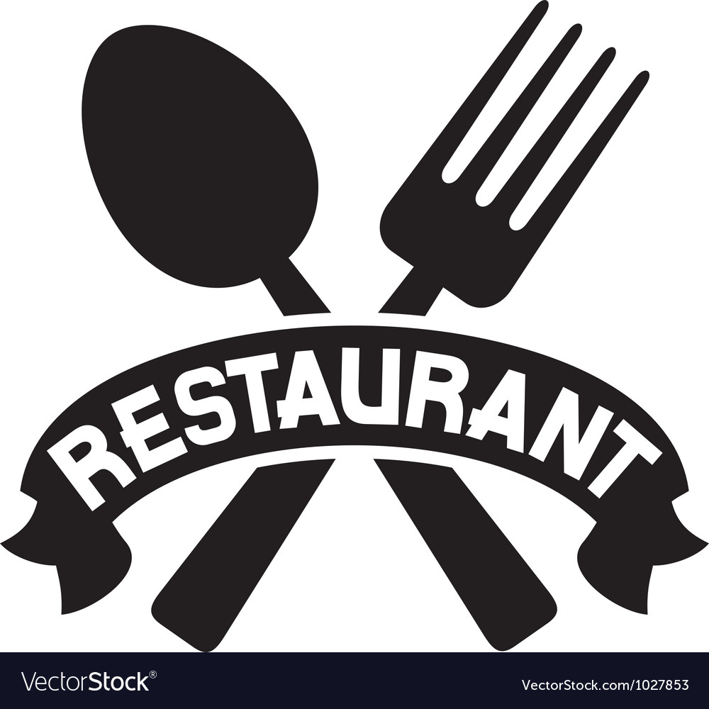 Crossed fork and spoon  restaurant symbol vector